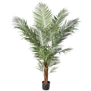 6.5 Potted Artificial Tropical Areca Palm Tree: Home & Kitchen