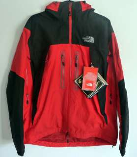 North Face Mens MOUNTAIN GUIDE Gore Tex Ski Hiking Jacket M Red Black