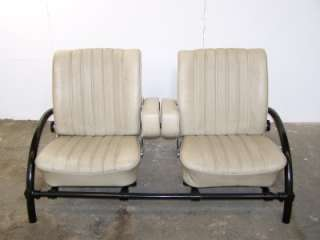 vintage Mercedes leather car seats INDUSTRIAL CHIC metal SOFA ron arad