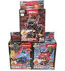 3pcs Takara Battle B Daman Chrome Zephyr blaster,Aoi Dragon King,Kour