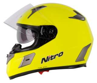 NITRO NSFP MOTORCYCLE FULL FACE CRASH HELMET YELLOW