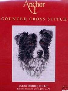 Anchor Dog Cross Stitch Kit PCE219 Border Collie 5055185213924
