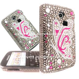 DIAMOND BLING CASE CRYSTAL COVER FOR SAMSUNG CHAT S3350