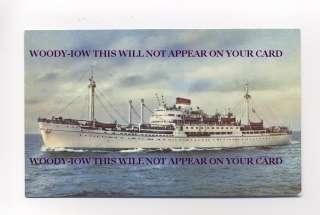 L6751   Italian Liner   Marco Polo class   Postcard
