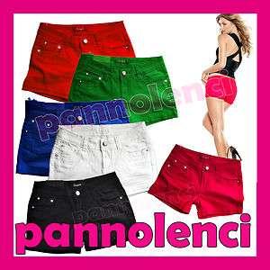 Pantaloncini shorts pantaloni colorati jeans cinque tasche donna