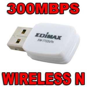 EDIMAX EW 7722UTN LAPTOP USB MINI WIRELESS N ADAPTER