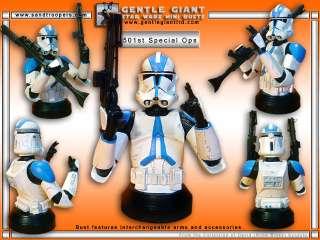 Star Wars Gentle Giant Bust 501ST Deluxe Blue CLONE TROOPER