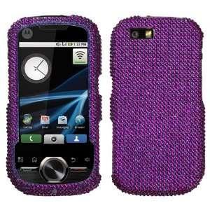 Purple Diamante Diamond Crystal Bling Case for Motorola i1
