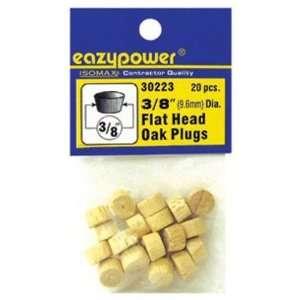 Eazypower Corporation 39437 3/8 Oak Flat Head Plug