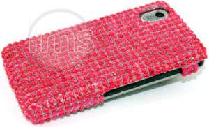 HOT PINK DIAMOND BACK CASE COVER FOR LG COOKIE KP500