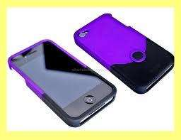 Brand New iFrogz Luxe Original Black Purple Case iPhone4 4S AT&T