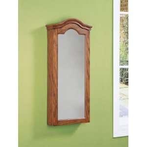 Company Antique Oak Wall Jewelry Storage Mirror