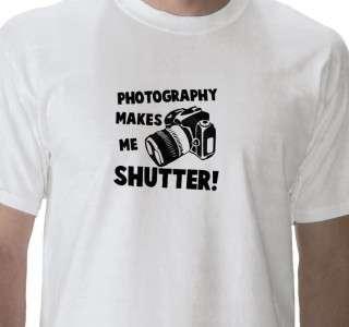 FUNNY PHOTOGRAPHER SHUTTER T SHIRT CANON/NIKON/CAMERA