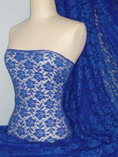 Royal blue flower soft stretch lace with lycra fabric