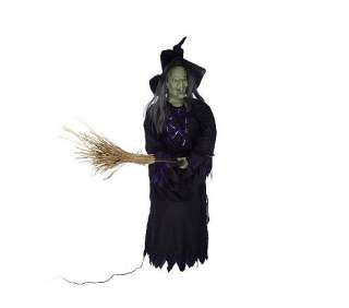 Moving Mouth Animated Witch with Broom   QVC