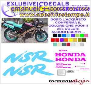 KIT ADESIVI DECAL HONDA NSR 125 1988