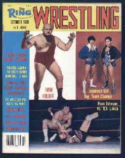 Ring Wrestling Magazine Oct 1978 Girls Japanese Tag