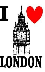 LOVE LONDON BIG BEN KIDS WHITE T SHIRT AGE 2 to10