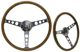 CLASSIC WOOD GRAIN FORD 15 INCH STEERING WHEEL