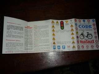 code de la route pour un SOLEX 1962 . antiquité .tendance