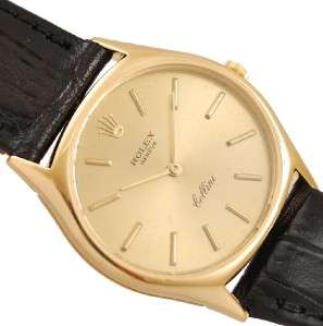 AUTHENTIC ROLEX GENEVE CELLINI REF 3803 18K SOLID GOLD MANUAL WIND