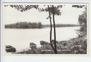 Budd Lake Harrison Michigan MI Real Photo Postcard RPPC Clare County