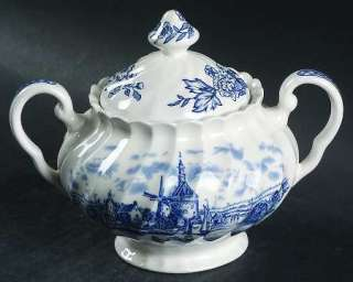 Johnson Bros TULIP TIME BLUE WHITE Sugar Bowl 284937