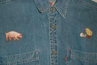 Mens LEVIS Metal Button Red Tab Long Sleeve / Button Front shirt BLUE