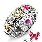 anillo compromiso, De oro y Con piedras prec semi perlas en .es