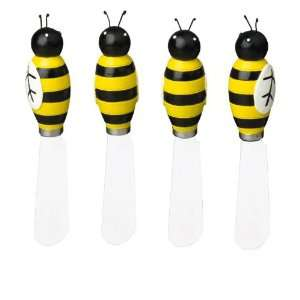 Boston Warehouse Busy Bees Bumblebee Spreader Set of 4