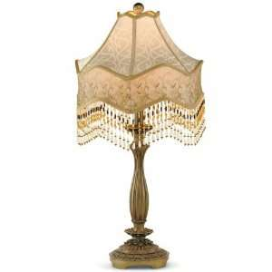 Dale Tiffany Beaded Citrine Table Lamp