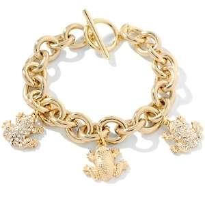 Simmons Jewelry Pavé Crystal Frog Drop 8 Bracelet