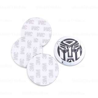 Transformers Autobot Wheel Center Cap Sticker Black (4 psc) #00164698