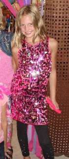 Fuchsia/Silver Sequin Dress Child Costume, 62755