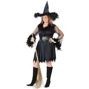 Sexy Feather Witch Adult Plus Costume, 31824