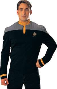 Nine Star Trek Uniform Gold Shirt   Adult Star Trek Uniform Costumes