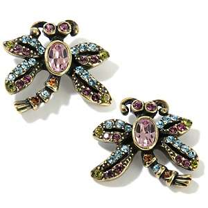 Heidi Daus Damselfly Crystal Accented Earrings
