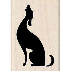 Inkadinkado Mounted Rubber Stamp   Musical Dog