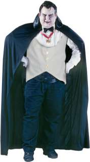 Full length cape with collar, cummerbund, bow tie, gloves, and