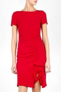 Moschino Cheap & Chic  Ruffle Slit Shift Dress by Moschino Cheap