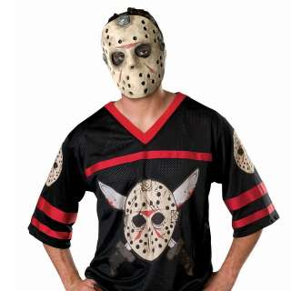 Friday the 13th Jason Hockey Jersey with Mask Adult   Friday the