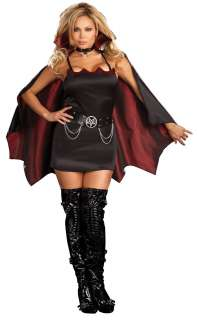 Fang Bangin Fun Vamp Plus Adult Costume   Includes dress, collar with