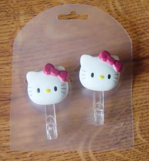 Brand New 2X Cartoon Hello Kitty Sucker Hook Bathroom Kitchen