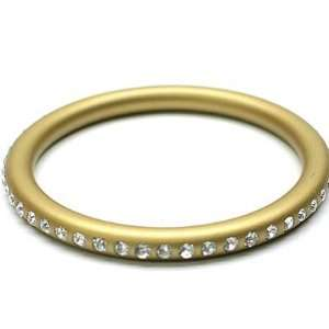 Gold Lucite Swarovski Crystal Bangle Bracelet Arts