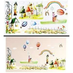 Hot Air Balloons & Rainbows Wall Stickers Decals