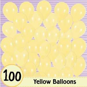 Balloons   Yellow   100 Ct. Per Pack   Baby Shower Balloons Toys