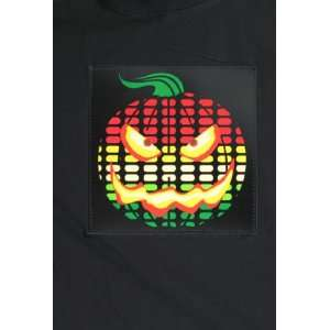 LED Sound Activated Pumpkin T Shirt (Large): Toys & Games