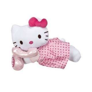 Hello Kitty Cuddle Bed Pillow in Pink Dress Talking on