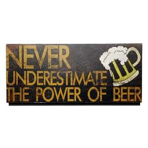 Underestimate the Power of Beer Wood Sign Wall Decor Home & Kitchen