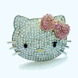 Hello Kitty Crystal HUGE big BLING ring by Jersey Bling